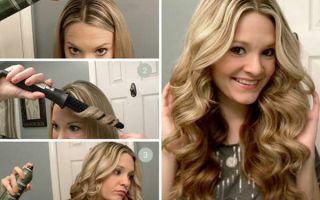 Конусная плойка для волос: как сделать локоны коническими щипцами, фото