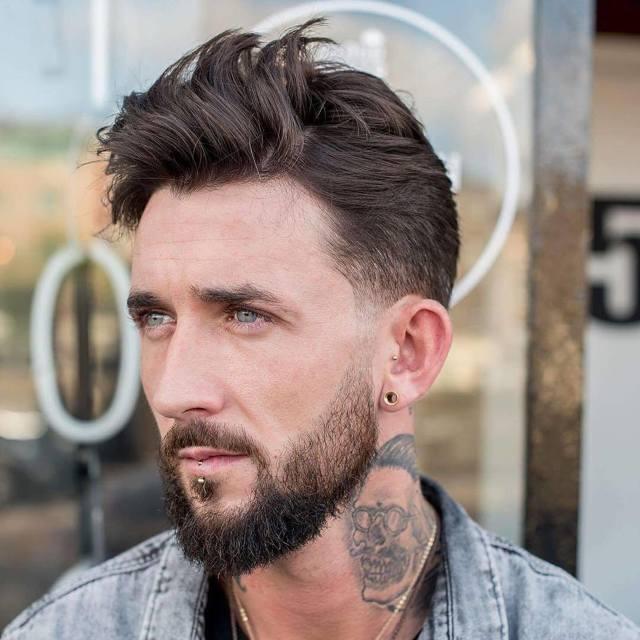 Прически мужские на средние волосы, красивые и модные стрижки, тенденции 2018 и 2019, фото-подборка, видео