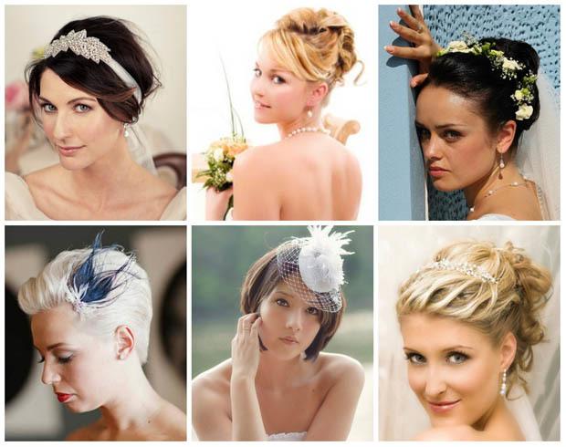 Свадебные прически на короткие волосы, укладка, модные тенденции 2018, фото, видео