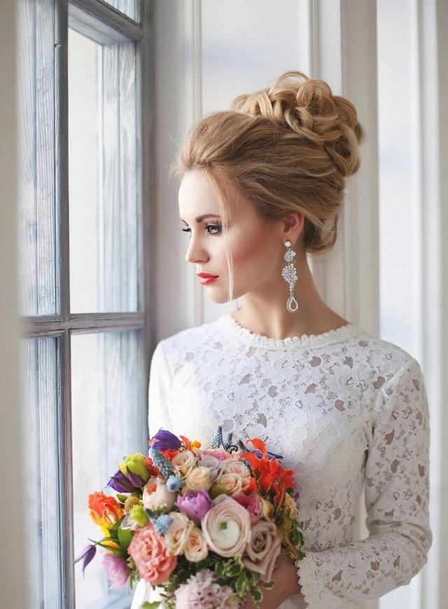 Свадебные прически с фатой на средние, длинные и короткие волосы, модные тенденции 2019, фото и видео