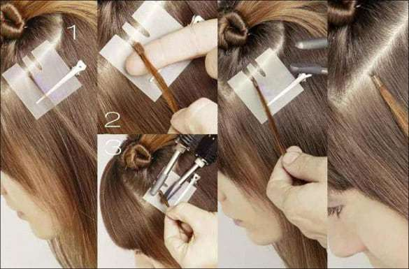 Наращивание волос дома: выбор вида процедуры и материалов, пошаговая инструкция, фото до и после, видео, причёски на наращенных прядях