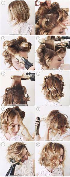 Как сделать локоны утюжком — пошаговая инструкция с фото и видео для коротких, длинных и средних волос