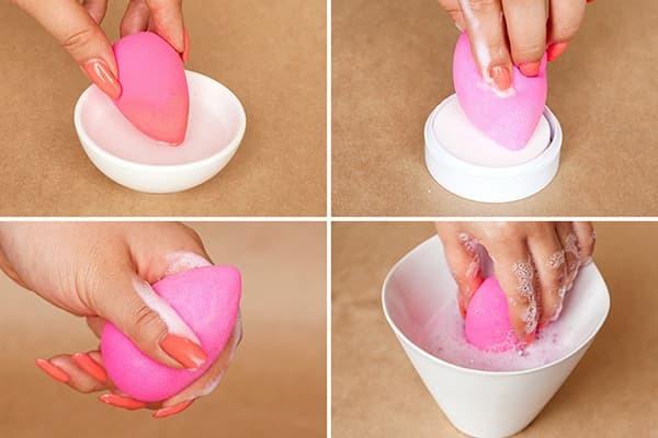 Как отмыть спонж от тонального крема — как помыть и очистить спонжик для макияжа дома